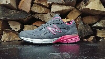 finest selection 4cbd8 8beef WOMENS NEW BALANCE 990 V4 Running Shoes Sz 9 D Suede Gray Pink Used Nurse  Gym