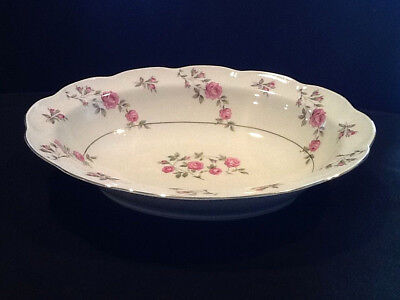 """Theodore Haviland New York Delaware China 10"""" Oval Serving Bowl Pink Roses"""