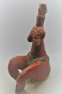 Scarce Early Indus Valley Harappan Fertility Figure 2800-2000Bc Unusual Example