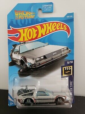 2019 Hot Wheels Screentime Back To The Future DeLorean Hover Mode Diecast Car