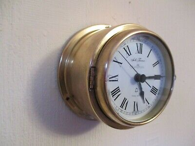 Seth Thomas Ships Bell Brass Porthole Wall Clock ( Working )
