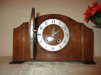 Art Deco  French Striking Mantle Clock ( Working ) With On Off Switch