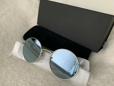 4ed7947261 Oliver Peoples OV 1197 The Row After Midnight Brushed Silver + Mirror Glass