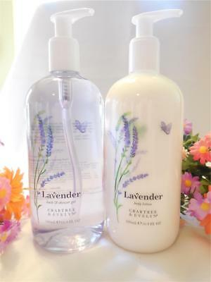 Crabtree & Evelyn *** LAVENDER BATH AND SHOWER GEL & BODY LOTION *** 16.9 oz Ea