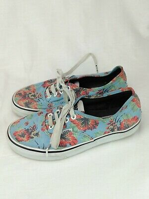 f2138a36c145 Vans X STAR WARS Authentic Hawaiian YODA Aloha Floral Men s Size  5.5 Women s 7
