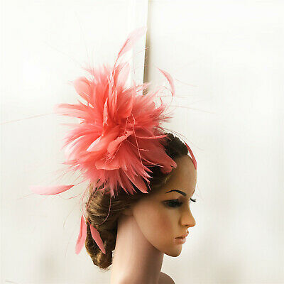 Goose Twisted Mount Hackle Feather Flower Peacock Millinery Hat Craft Fascinator