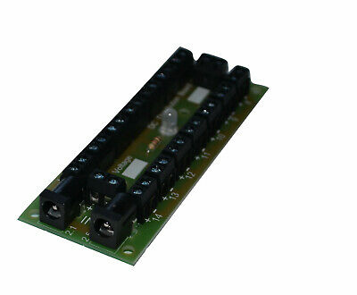 DC or DCC Plug Input Power Distribution Board 14 way with Indicator LED