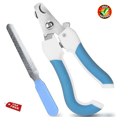 Dog Nail Clippers Trimmer Pet Cat Cutting Scissors Claw Care Tool Blue Large NEW