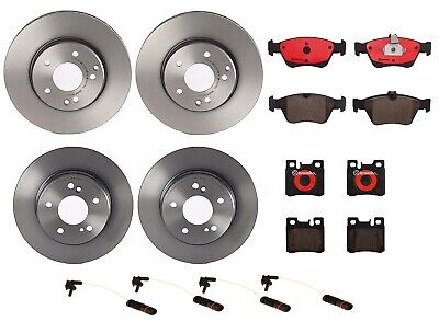 Set of 4 Front Vented /& Coated Disc Brake Rotors Brembo for Infiniti EX35 M45