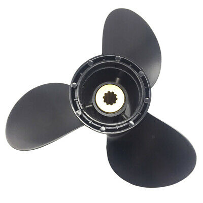 S 9 1/4 x 10 Aluminum Outboard Propeller 3 Blade for Evinrude/Johnson 8-15HP