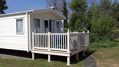 Prestige Caravan 3 Bed Sleeps 8 Fully Equipped Kitchen And Decking.