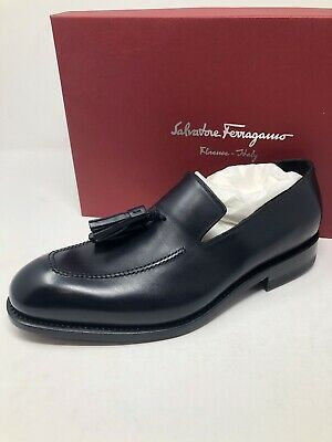 f022f29835bfe New Salvatore Ferragamo Tramezza Mens Blue Shoes 'Corrado' Size 8 US 7 UK 41