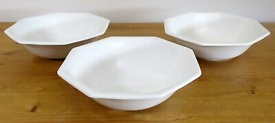 "Johnson Brothers 'Heritage White' 17.5cm/7"" Cereal/Dessert Bowls x3"