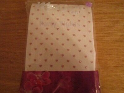 41bf41ea222 Monsoon Girls Party Tights Pink Heart Design 11 - 13 Years New   Unused