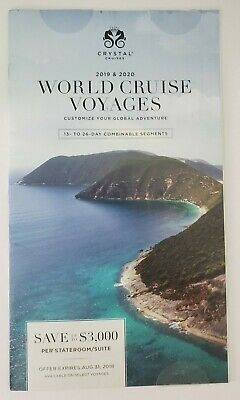 2019 & 2020 Crystal Cruises WORLD CRUISE VOYAGES Travel Cruises NEW!