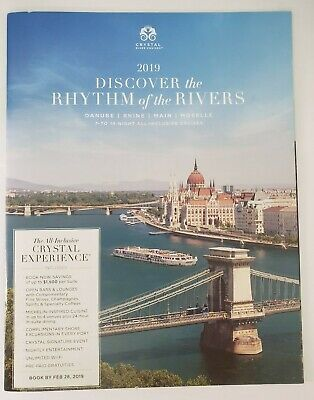 2019 Crystal Cruises DISCOVER THE RHYTHM OF THE RIVERS Travel Cruises NEW!