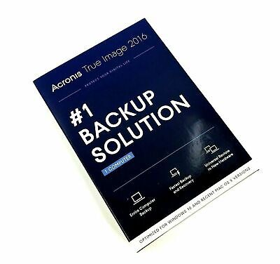 Acronis True Image 2016 #1 Backup Solution Software for 1 Computer #1292