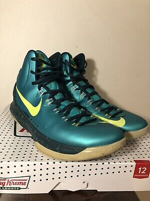 lowest price 37def 12a01 Nike Zoom Kevin Durant KD 5 Hulk Green Bright Yellow Basketball Shoes Size  11