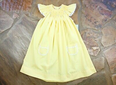 e3d307051153 NEW REMEMBER NGUYEN Yellow Smocked Dress 18 months  READ  RN505 ...