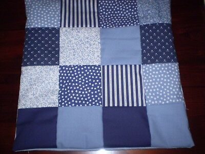 Patchwork Cushion Cover - Blue - B
