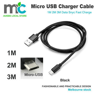 Micro USB Charger Cable Charging line 1M 2M 3M For Mobile Android Samsung Galaxy