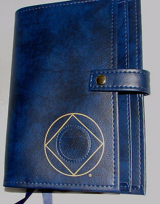 Narcotics Anonymous NA Basic Text How and Why BLUE  Deluxe Double Book Cover