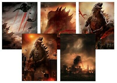 GODZILLA: 2014  A5 A4 A3 Textless Movie & DVD Posters