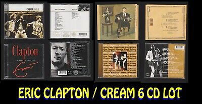 Eric Clapton 6 CD Lot:Cream Gold(2)/Complete(2)/Me & Mr Johnson/Rainbow Concert