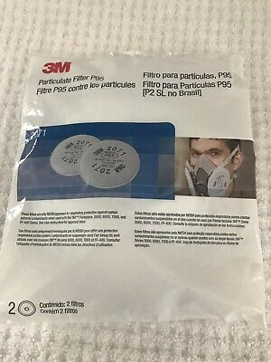 New In Sealed Pack Genuine 3M Particulate Filter P95 2071  1 pkg With 2 Filters