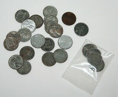 Lot of 26 1943 Steel Lincoln Wheat one cent coins with S's & D's