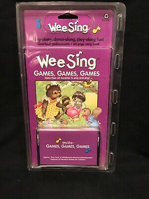 New Wee Sing Games Games Games Casette Tape Book Set Children Kids Fun Music