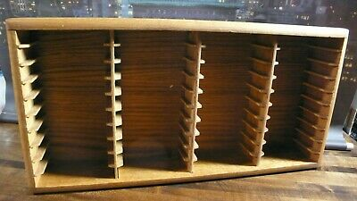 Vtg. Cassette Tape Holder Storage Rack Hold 40 Tapes Cal Oak Collection
