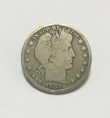 1906 D Barber Half Dollar Good (GD)