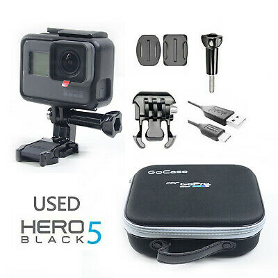 Used GoPro HERO 5 Waterproof Action 4K Ultra HD Camera Black Touch Screen 12MP