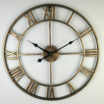 Retro Vintage Wall Clock North Europe Style Roman Numerals Iron Antique Watches