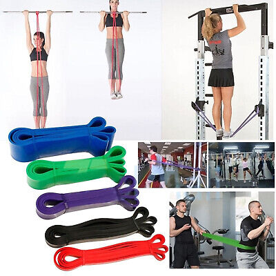 5 Level Resistance Loop Band Yoga Fitness Crossfit Pilates Workout Gym Booty lot