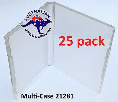 25 Super Clear Plastic DVD Stamp Storage Poly Cases