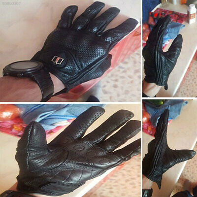 F4B6 Cold Touch Screen Hand Socks Black Big Leather Case Gloves Premium