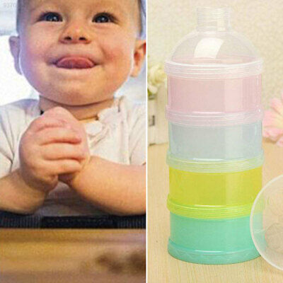 DC44 4 Layers Milk Powder Case Dispenser Travel Baby Infant Feeding Container