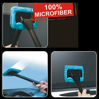 9905 Window Cleaner Easy Shine Brush Washable Cleaning Tool Microfiber Car Blue