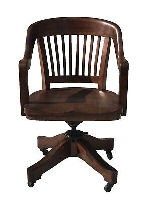 Antique Arts & Crafts / Mission Oak Office Desk Chair By Milwaukee Chair Co