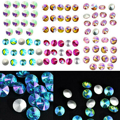 Colored AB XILION ELEMENTS Crystals Glass Rivoli Loose Beads DIY 14mm New x 15