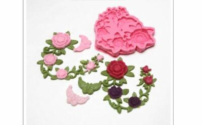 (Handmade mould) Deco rose-5 balls Silicone soap Mould plaster candle mold