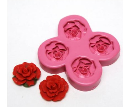 (Handmade rose) Deco Rose No. 3  Silicone soap Mould plaster candle mold