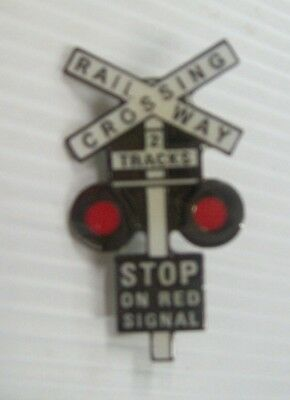Railway Xing Metal Badge
