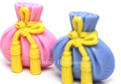 (Handmade mould) Lucky bags 2 balls Silicone soap Mould plaster mold
