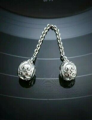 Authentic Pandora Silver Enchanted Heart Safety Chain 797036#2