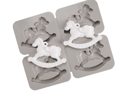 (Silicone Mould) Shaking Horse Four balls(Tablet Mould)  plaster mold