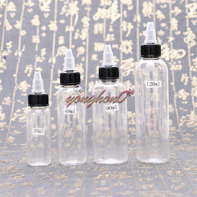 unicorn bottle 30ml 60ml 90ml 120ml twist cap pet plastic liquid Dropper Bottle