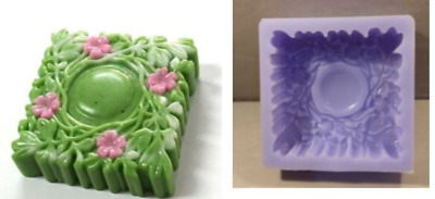 (Silicon Mould) square Forest  Silicone soap Mould plaster Mold